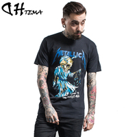 DHTEMA 2017 New Cotton Hip Hop Camisetas Skull Printed T Shirt Casual Clothing Men Tshirt Plus Size For Big&Tall