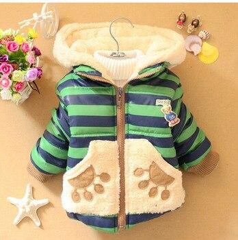 Bebek Erkek Ceket Çocuk Giyim Erkek Moda Ceket Karikatür Ayı Tops Ceket Kış Çocuklar sıcak Pamuk Giyim Bebek Giysileri