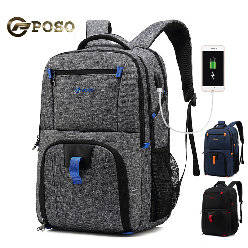 USB Charge Waterproof Anti-cheft Laptop Backpack For17 17.3 Inch Computer Big Capacity Notebook Bag For Lenovo Sony Hp Black 501