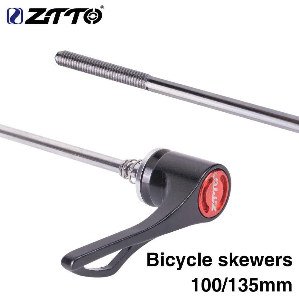 ZTTO موثوق المحور 1 زوج دراجة أجزاء MTB الطريق الدراجة دراجة المسمار أسياخ 9 مللي متر 5 مللي متر سريعة الإصدار سيخ 100 135 موثوق المحور