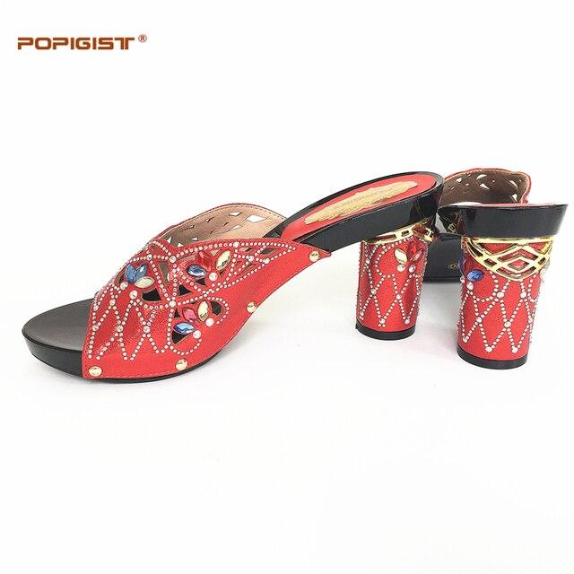 Italiaanse Schoenen Vrouwen Zomer Kleur Sandalen Fashion In Rode W2HIED9