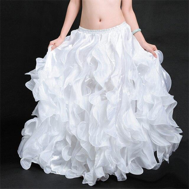 Leafroll Single-split Belly Dancing Bellydance Swing Skirt Belly Dance Costumes Dance Skirts Performances Dress