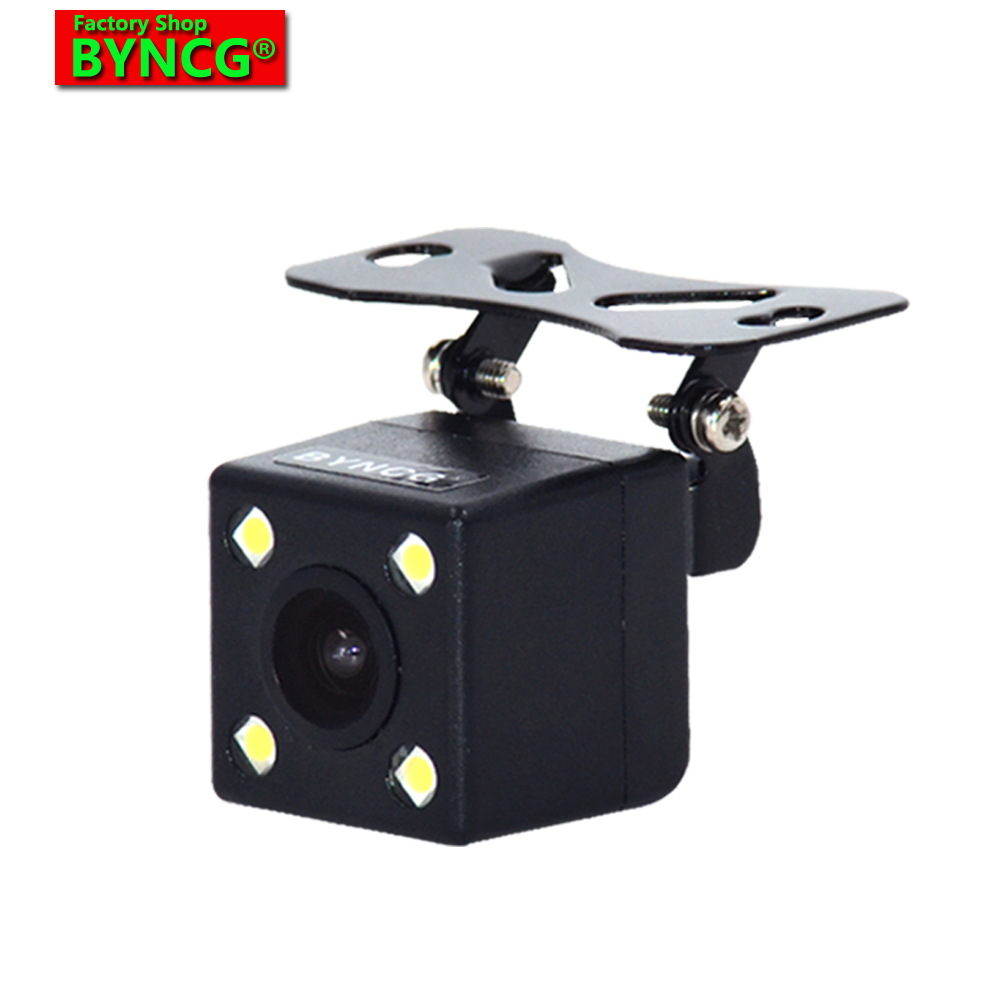 BYNCG WG1 170 Derajat 4 Lampu LED Night Vision Mobil Parkir Rear View Camera Membalikkan Cadangan Tahan Air HD CCD Sensor