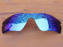 Polycarbonate Ice Blue Mirror Replacement Lenses For Radar Path Sunglasses Frame 100 UVA UVB Protection