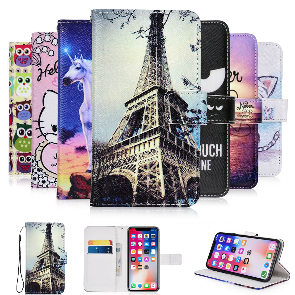 Cellphones & Telecommunications Flip Cases Friendly Kesima For Alcatel 5065d 5065x Pop3 5 4g Cartoon Wallet Pu Leather Case Fashion Lovely Cool Cover Cellphone Bag Shield Warm And Windproof