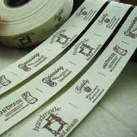 Baumwolle bänder bilder design kleid schuhe taschen label 2,5 CM breite gedruckt custom kleidung etiketten handgemachte etiquetas ropa