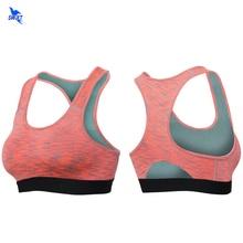 2018 High Impact Women's Elastic Sports Bra Yoga Shirts Breathable Women Running Underwear Padded Vest Fitness Gym Rush Tank Top