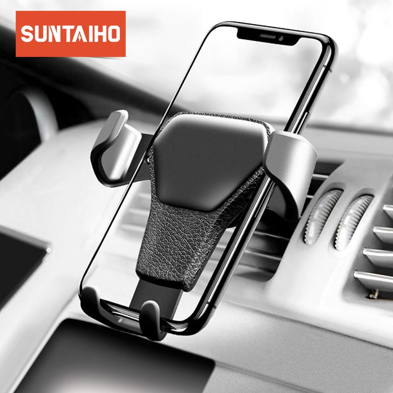 Suntaiho Phone Stand Car Phone Holder For iPhone holder In Car Air Vent Mount Stand Phone car Holder Universal Smartphone stand