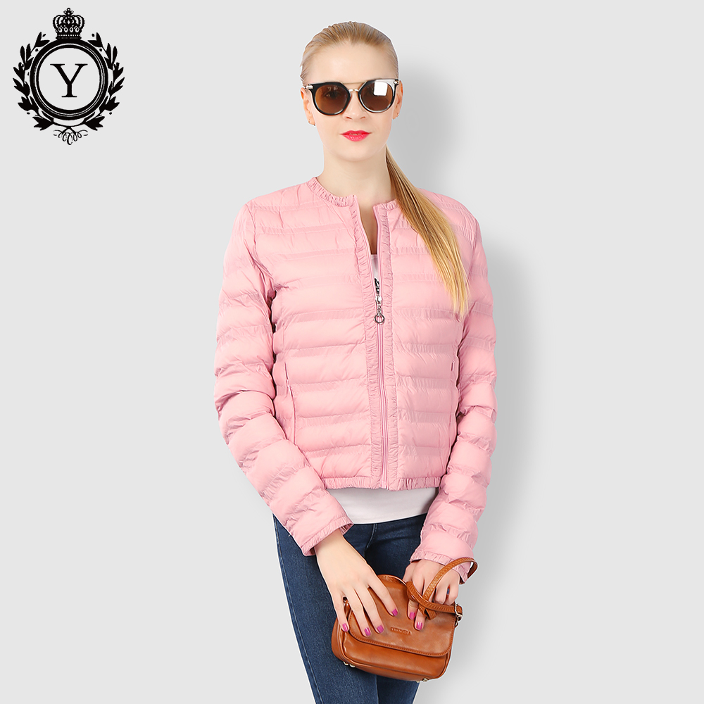 2018 COUTUDI New Women Spring Autumn White Duck Down Cotton Jacket Coat Ultra Light Slim Puffer Jacket Portable Down Jacket Coat