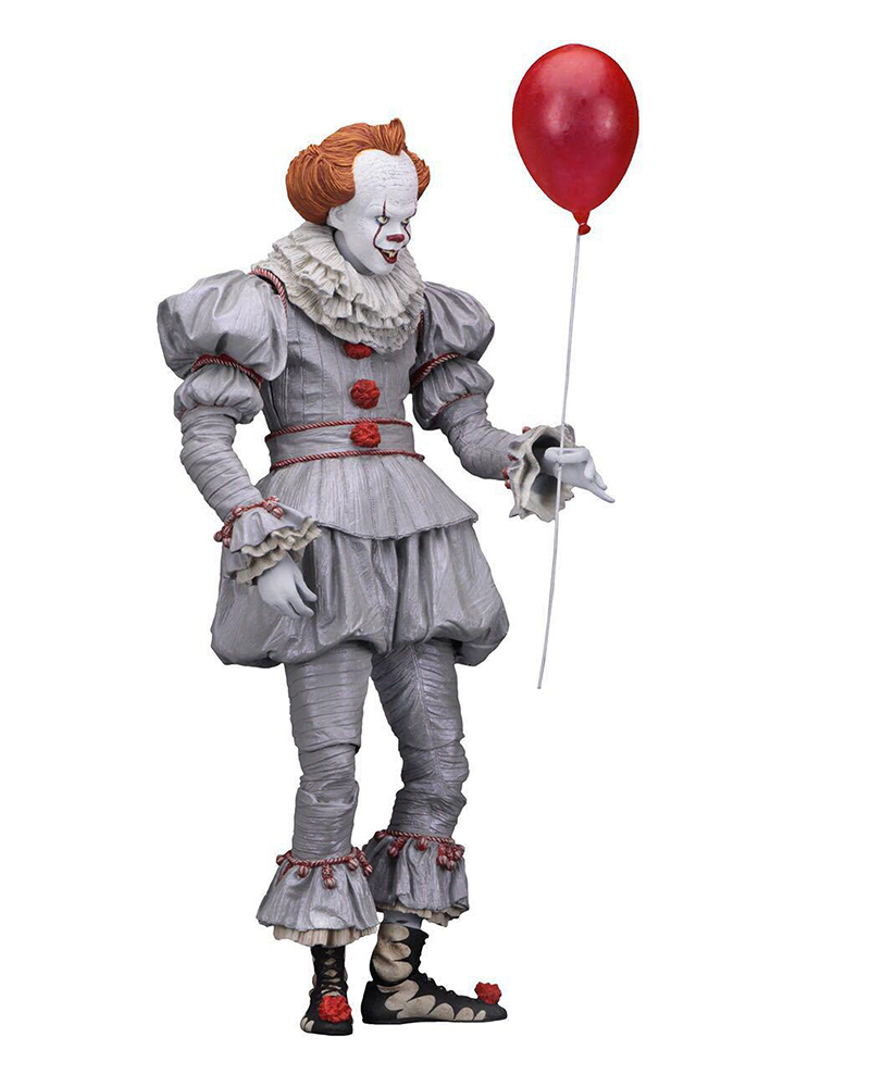 18cm 7inch Neca Stephen King's It Pennywise Joker Clown PVC Action Figure Toys Dolls Halloween Day Christmas Gift (2)