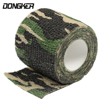 5cmx4.5m Army Camo Outdoor Hunting Shooting Tool Camouflage Stealth Tape Waterproof Wrap Durable Gun Accessories ^