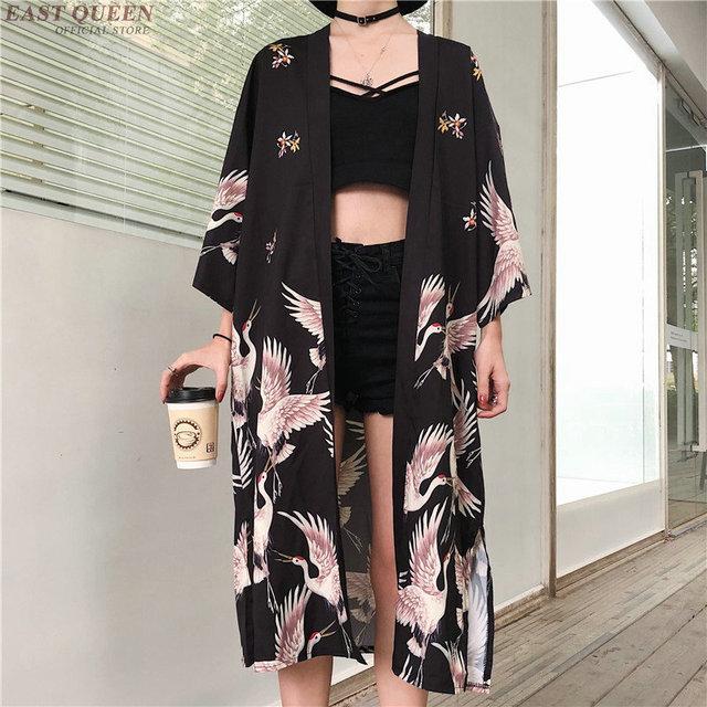 Kimono Cardigan Womens Tops And Blouses Japanese Streetwear Women Tops Summer 2020 Long Shirt Female Ladies Blouse Women Clothes 1