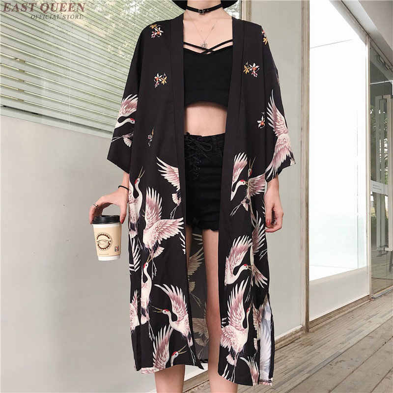 Kimono cardigan Womens tops and blouses Japanese streetwear women tops summer 2019 long shirt female ladies blouse women clothes
