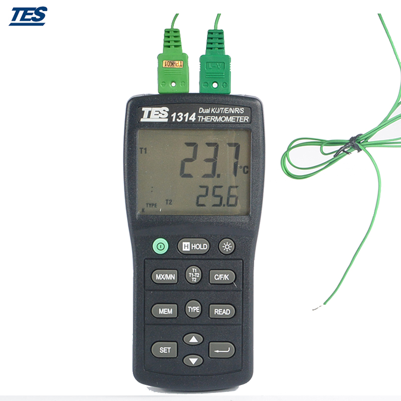 TES-1314 Digital Dual Channel Thermometer  цены