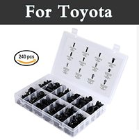 240x Car Rivets Assortment Clips Push Retainers Set In Case Fit For Toyota Avensis Aygo Belta