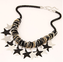 NANBO New charms Fashion Charms Flower Statement Stone chunky Star Black necklace for women SPX5194