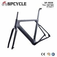 Spcycle 2018 New Disc Brake Carbon Cyclecross Frameset T800 Carbon Gravel Bicycle Frame Aero Carbon MTB Road Bike Frame
