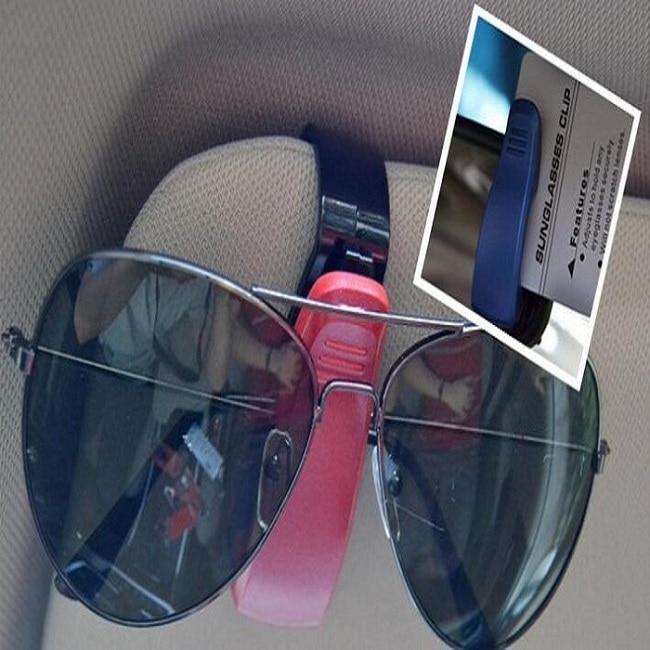 Car Auto Sun Visor Glasses Sunglasses Clip Card Ticket Holder Pen Case Box Universal Accessories color option