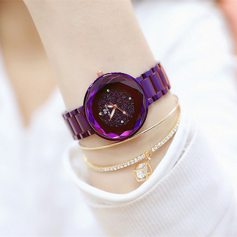 New Hot Sale Watch High-end Chain Romantic Starry Surface Female Fashion & Casual  Chronograph