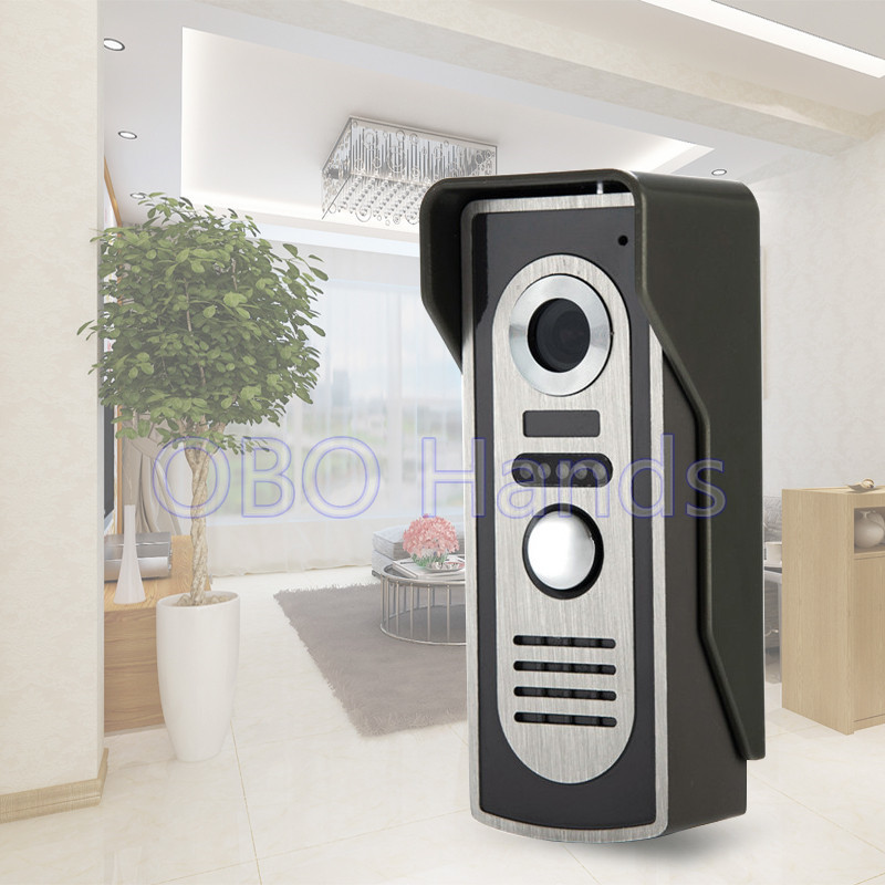 Metal video door phone outdoor camera with ir night vision for Door video camera