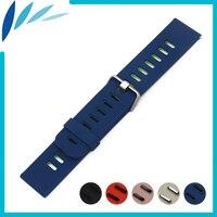 Silicone Rubber Watch Band 22mm do Pebble Czas/Stal Watchband pasek Na Rękę Bransoletka Pętli Pasa Czarny Niebieski Czerwony Różowy Szary + narzędzie