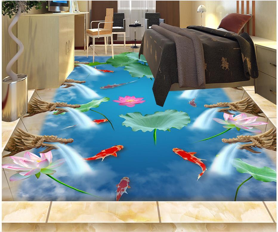 ФОТО Waterproof floor mural painting Dolphin Waterproof floor mural painting PVC waterproof floor 3d floor painting