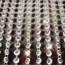 10 Meters Garland Strand Hanging Crystal Glass Bead Curtain Diamond Chains Party Tree Wedding Centerpiece Decor