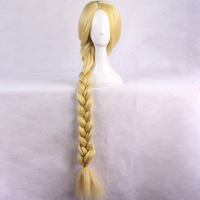 Tangled Princess Rapunzel Cosplay Wig Hair Japanese Anime Cartoon Halloween Women Girl's Gold 120cm Length Long Wigs