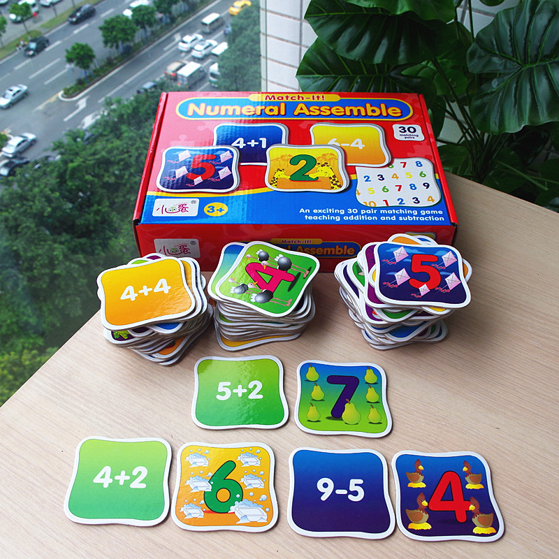 Educational Toys Puzzles For Children Early Learning Kids Board Game Jigsaw Puzzle Card Games Math Toy Numberal Word Assemble