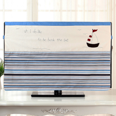 Quality tv cover set lcd hanging fabric 32 42 47 50 55 inch brief dust cover towel in Computer Covers from Home Garden