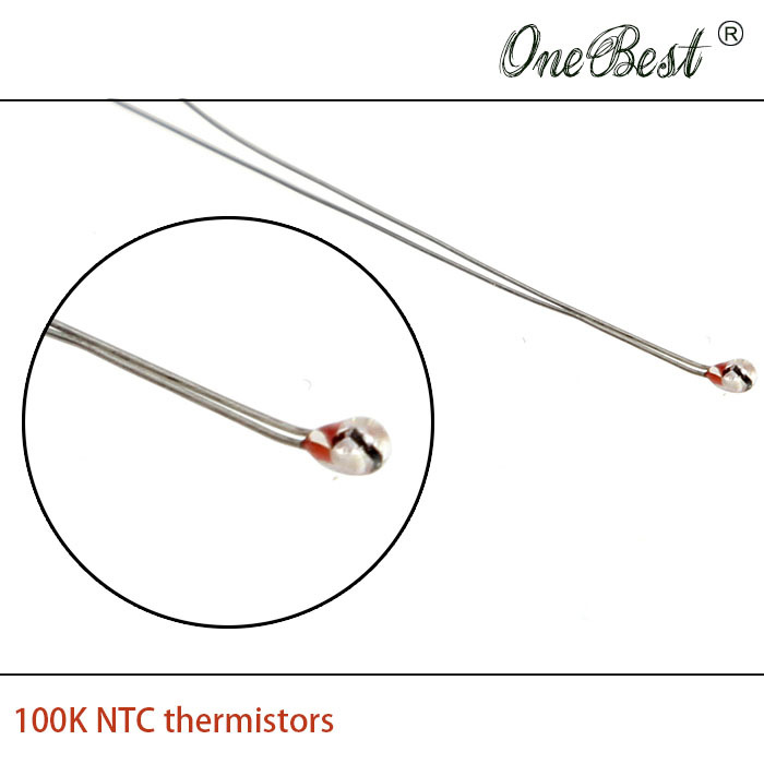 10Pcs lot 3D printer thermistor NTC 100K single ended glass sealed 100K Ohm precision of 1