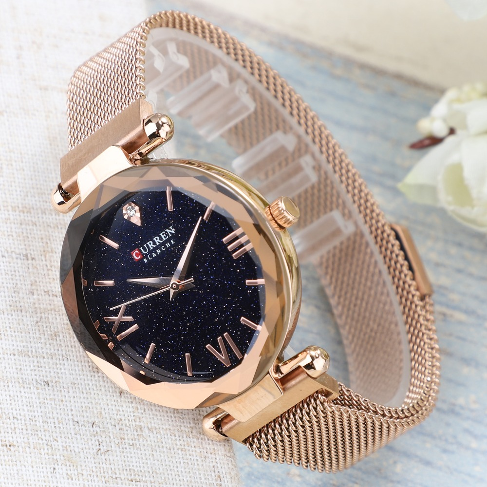CURREN Luxury Women Wristwatch Blanche 9063