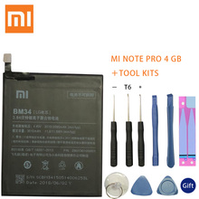 Xiao Mi Original BM34 Battery For Xiaomi Note Pro 4GB RAM 3010mAh High Capacity Replacement Free Tools Retail Package