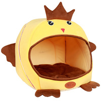 Soft Pet Home Dog Bed Puppy Dog Kennel Pet Bed House For Dog Cat Small Animals Home Dog House With Mat Chihuahua 25D