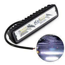 2 pcs 18W 12V 16LED Car Work Light Bar Spot Beam Driving Waterproof Auto Fog Lamp for SUV Off Road Daytime Running lights