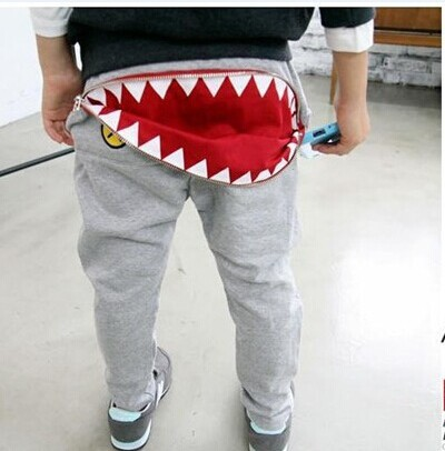 Newest Baby Kids Boys Girls Zipper Design Casual Harem Pants Toddler Loose Trousers 2