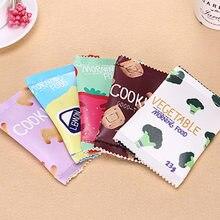 Модная Веселая закуски печенья PU Водонепроницаемый бумажник с застежкой-молнией для детей для девочек и мальчиков Кошелек для монет кошелек BS88