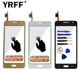 Hot For Samsung Galaxy Grand Prime G531 G531F SM-G531F Touch Screen Digitizer Sensor Front Glass Lens + Adhesive Free Shipping
