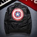 Autumn New American Captain Baseball Jacket Men Women Bomber Jacket Fashion Casual Zipper Printed Coat Men Aeronautica Militare
