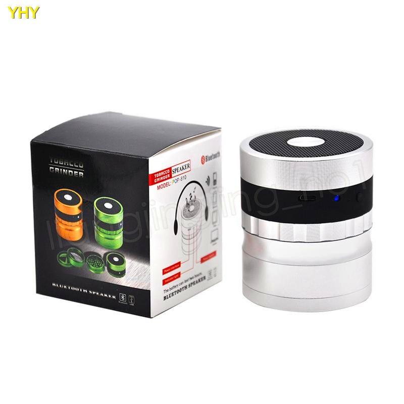 Bluetooth Grinders 62mm metal herb grinder for tobacco grinder speaker 2 in 1 creative smoking grinders Accessories GGA99502