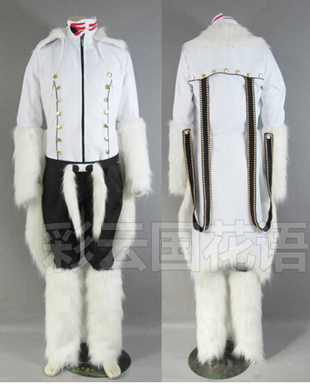 2016 Bleach The Tercera Espada No.1 Coyote Starrk Resurreccion Form White Kimono Cosplay Costume