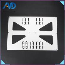 лучшая цена 3D printer parts heating platform Z-axis support aluminum plate For Prusa I3 /Wanhao support plate V3 300 heatbed aluminum plate