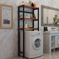 Ванная комната Полочка металлический стиральная машина стеллаж для хранения полка, туалетный Ванная комната Организатор Балкон Хранения д