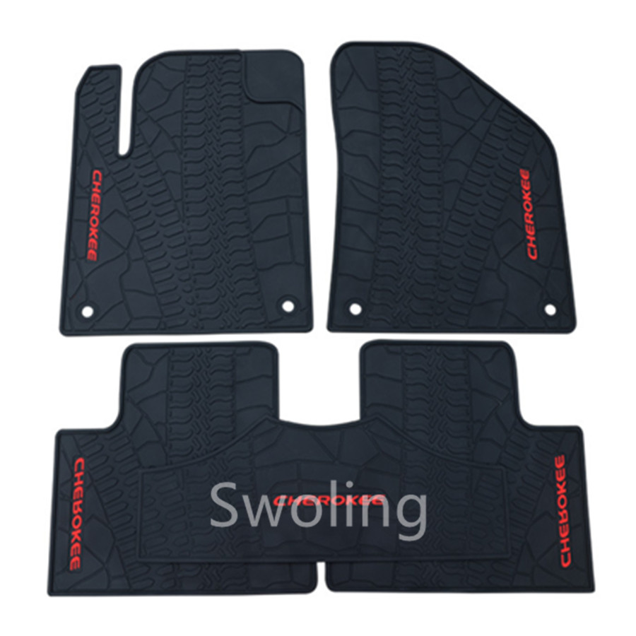 For Jeep Cherokee High Quality Waterproof Anti Skip Latex Durable Carpets Special Rubber Car Floor Mats