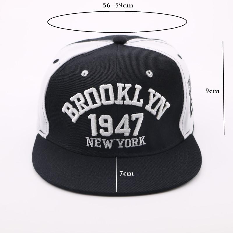 Negro y blanco Brooklyn NY ajustable Casual gorra hombres y mujeres Hip Hop Snapback  gorras de béisbol 6d274edc838