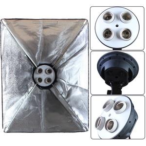 Image 4 - Photo Studio 50*70cm Softbox E27 4 Lamp Holder 100 240v Lighting Soft Box Photography Kit
