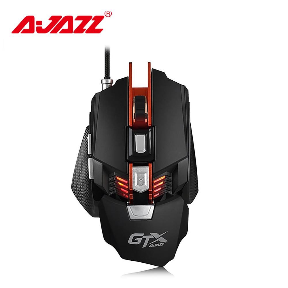 Ajazz GTX E sport Gaming Mouse 4000 DPI 7 Buttons Wired USB 2 0 Optical Mouse