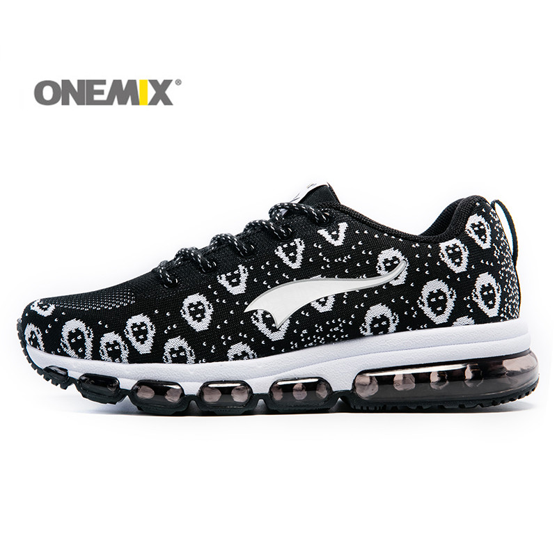 ФОТО Onemix Men's Running Shoes Outdoor Jogging Shoes Trainer Breathable Mesh Vamp for Walking Trekking Outdoor Sports for Lovers