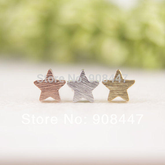 SMJEL 30pcs-S025 Fashion Brincos Brinco Little Matte Star Stud Earrings for Women Wholesale Earing Gifts