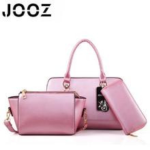 JOOZ Brand Luxury Candy Color Lady Handbag 3 Pcs Composite Bags Set Female Messenger Shoulder Crossbody Bag Women Clutch Wallet